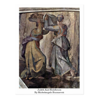 Judith And Holofernes By Michelangelo Buonarroti Postcard