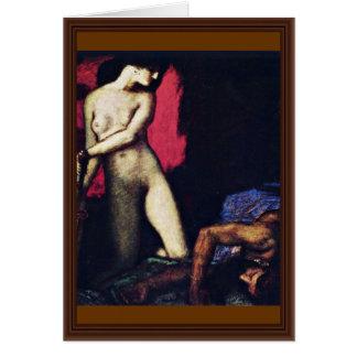Judith And Holofernes By Stuck Franz Von Greeting Card