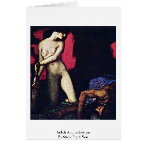 Judith And Holofernes By Stuck Franz Von Card