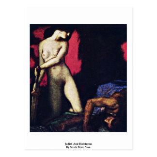 Judith And Holofernes By Stuck Franz Von Postcard