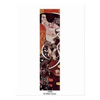 Judith By Klimt Gustav Postcard