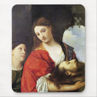 Judith con el jefe de Holofernes Alfombrilla De Ratón