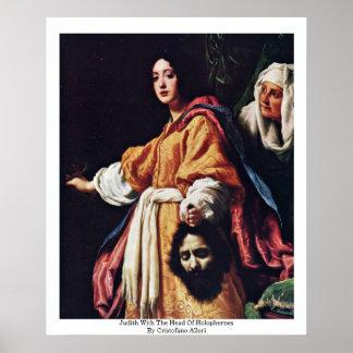 Judith con el jefe de Holophernes Póster