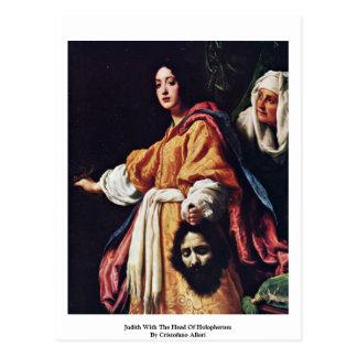 Judith con el jefe de Holophernes Tarjeta Postal