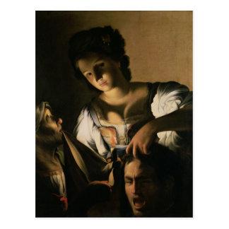 Judith con la cabeza de Holofernes, 1615 Postal