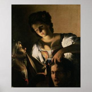 Judith con la cabeza de Holofernes, 1615 Póster