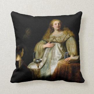 Judith en el banquete de Holofernes de Rembrandt Cojin