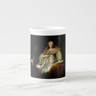 Judith en el banquete de Holofernes de Rembrandt Taza De Porcelana