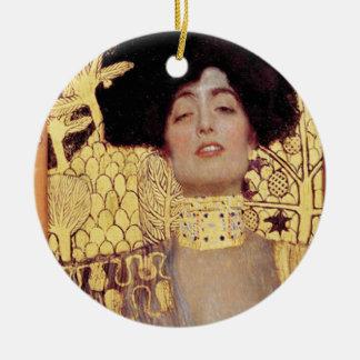 Judith,femme fatale,painted by Gustav Klimt, art Ceramic Ornament