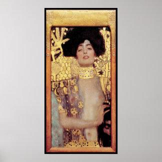 Judith,femme fatale,painted by Gustav Klimt, art Poster