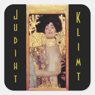 Judith,femme fatale,painted by Gustav Klimt, art Square Sticker