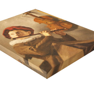Judith Leyster- Boy Playing the Flute Stretched Canvas Prints