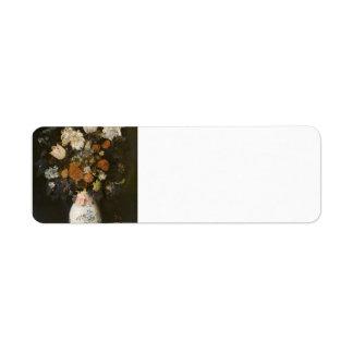 Judith Leyster- Flowers in a vase Custom Return Address Labels