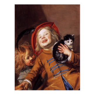 Judith Leyster- Laughing Children with a Cat Postcard