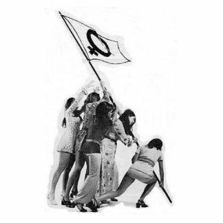 "Judith Meuli's ""Raising of the Feminist Flag"" Standing Photo Sculpture"