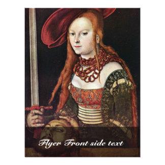 Judith por Cranach D. Ä. Lucas (la mejor calidad) Tarjeta Publicitaria