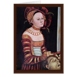 Judith por Cranach D. Ä. Lucas (la mejor calidad) Tarjetas