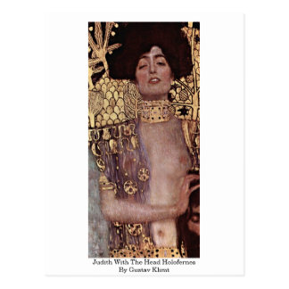 Judith With The Head Holofernes By Gustav Klimt Postcard