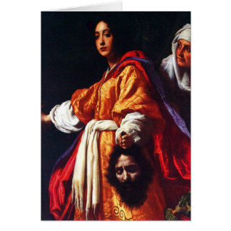 Judith with the Head of Holofernes Greeting Cards