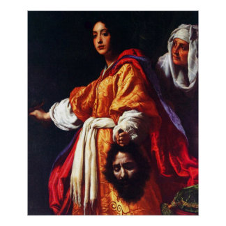 Judith with the Head of Holofernes Poster