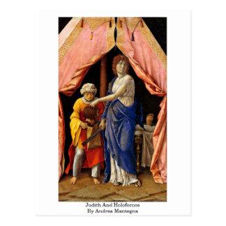 Judith y Holofernes de Andrea Mantegna Postales