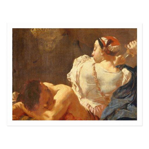 Judith y Holofernes Postales
