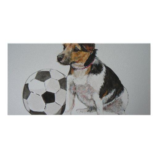 Judith's doggie personalized photo card