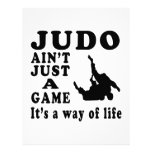 Judo Ain't Just A Game It's A Way Of Life Customized Letterhead