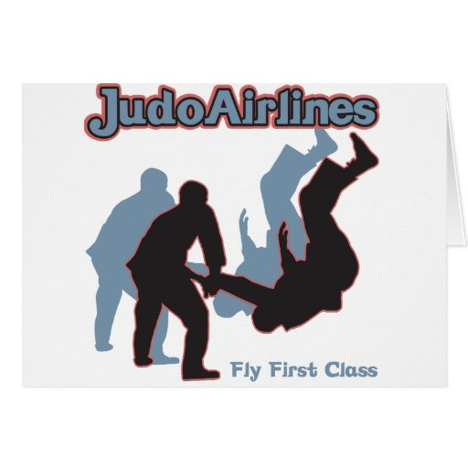 Judo Airlines Greeting Cards