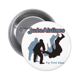 Judo Airlines Pinback Button