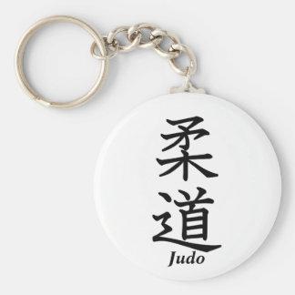 Judo Basic Round Button Keychain