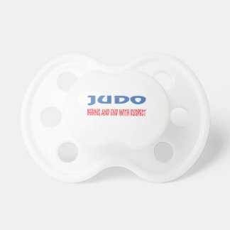 Judo Begins and End with Respect BooginHead Pacifier
