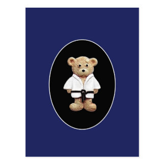 Judo Black Belt Postcard