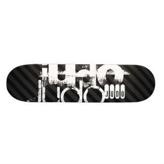 Judo; Black & Dark Gray Stripes Skateboard Deck