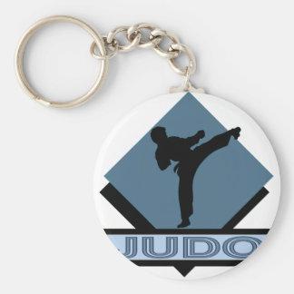 Judo blue diamond keychain