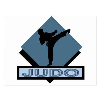 Judo blue diamond postcard