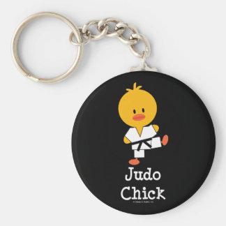 Judo Chick Keychain