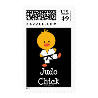 Judo Chick Postage Stamps