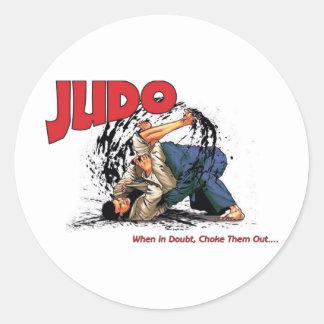 Judo Choke Out Classic Round Sticker