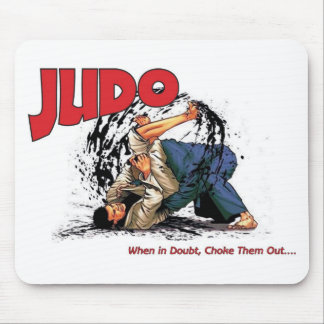 Judo Choke Out Mouse Pad