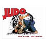 Judo Choke Out Postcard