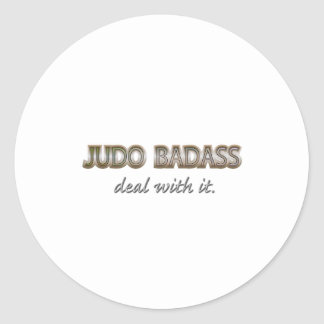 JUDO CLASSIC ROUND STICKER