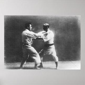 Judo de Judoka Jigoro Kano Kyuzo Mifue del japonés Posters