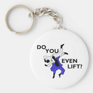 Judo - Do You Even Lift Basic Round Button Keychain