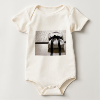 Judo Gi on Tatami mat Baby Bodysuit