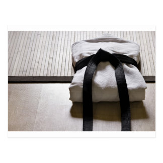 Judo Gi on Tatami mat Postcard