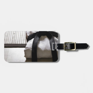 Judo Gi on Tatami mat Travel Bag Tag