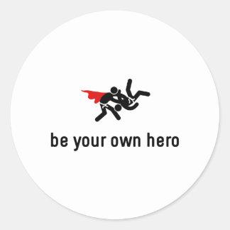 Judo Hero Classic Round Sticker