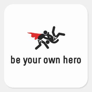 Judo Hero Square Sticker