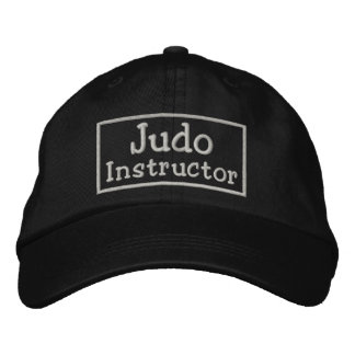Judo Instructor Embroidered Baseball Caps